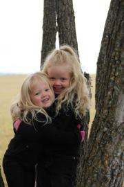 (L - R) Grace & Abagail Middleton October 2011