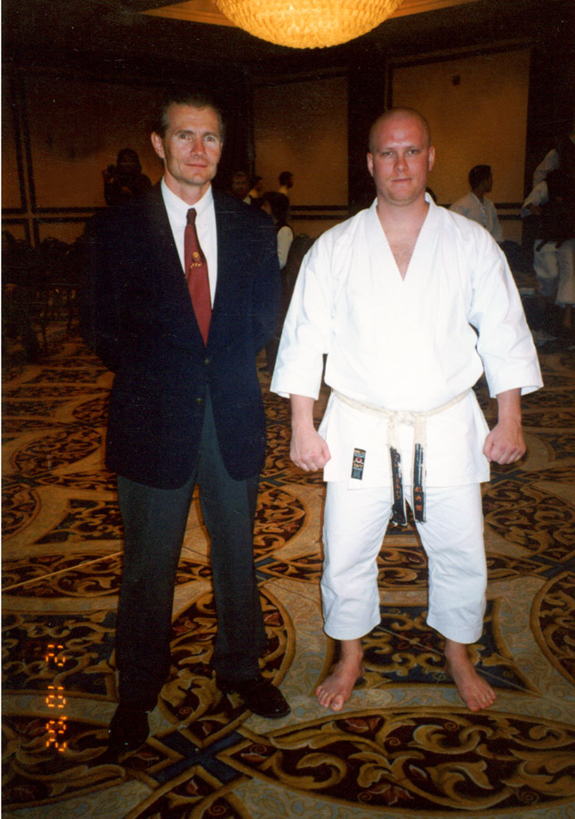 Scott Middleton with Sensei David Jones at the 2002 ISKF National Championships.