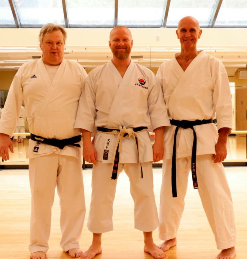 On April 25th & 26th, 2015 Sensei Scott Middleton was a guest instructor in Vancouver British Columbia. Sensei Don Owens (Left) and Sensei Andrew Holmes (Right) are both life long practitioners promoting the benefits of Shotokan Karate across Canada and abroad. An honor to train with them both and be in their company.