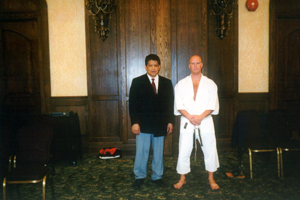 Scott Middleton with Sensei Frank Woon-A-Tai. Circa 2000.