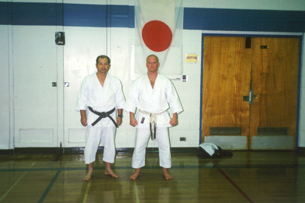 Scott Middleton with Sensei Shigeru Takashina. Circa 2001.