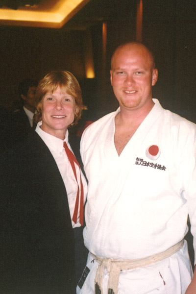 Scott Middleton with Sensei Cathy Cline. Circa 2003.