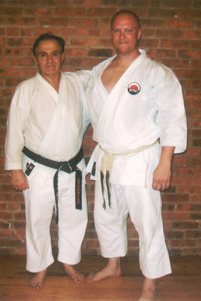 Scott Middleton with Sensei Fredrick Serricchio. 2007 WTKO Summer Camp in New York City.
