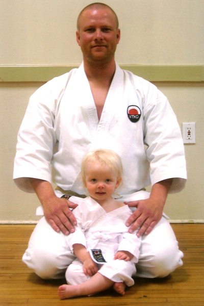 Scott Middleton with daughter Abagail. Circa 2008.