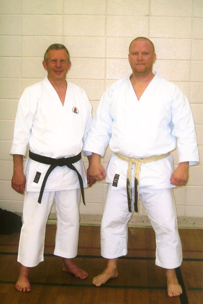 Scott Middleton with Sensei Dave Hazard. Circa 2010.