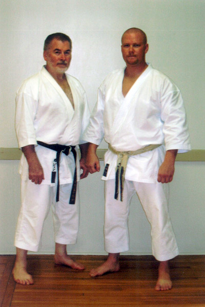 Scott Middleton with Sensei John Mullin. Circa 2006.