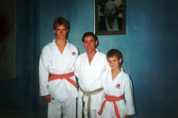 Scott Middleton with Sensei Phillip Dingman. Circa 1987