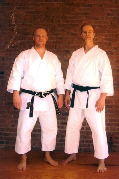 Scott Middleton with Sensei Steve Ubl. Circa 2009.