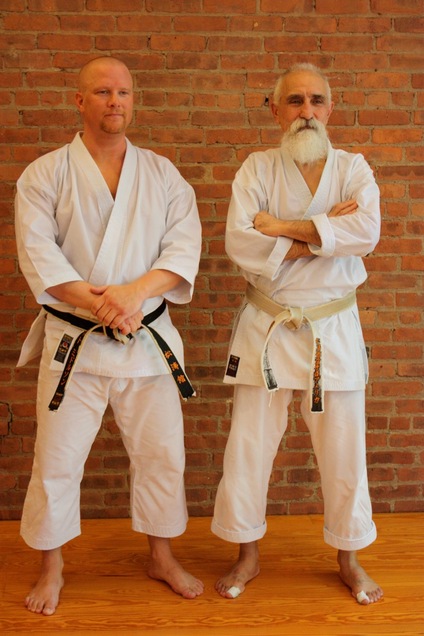 Scott Middleton and Sensei Ahmad Mazhari, 6th Dan. Picture taken at the 2011 WTKO Summer Camp in New York City. Sensei Mazhari has over 45 years of Karate experience, and was a long time student of Sensei's Mori & Enoeda.