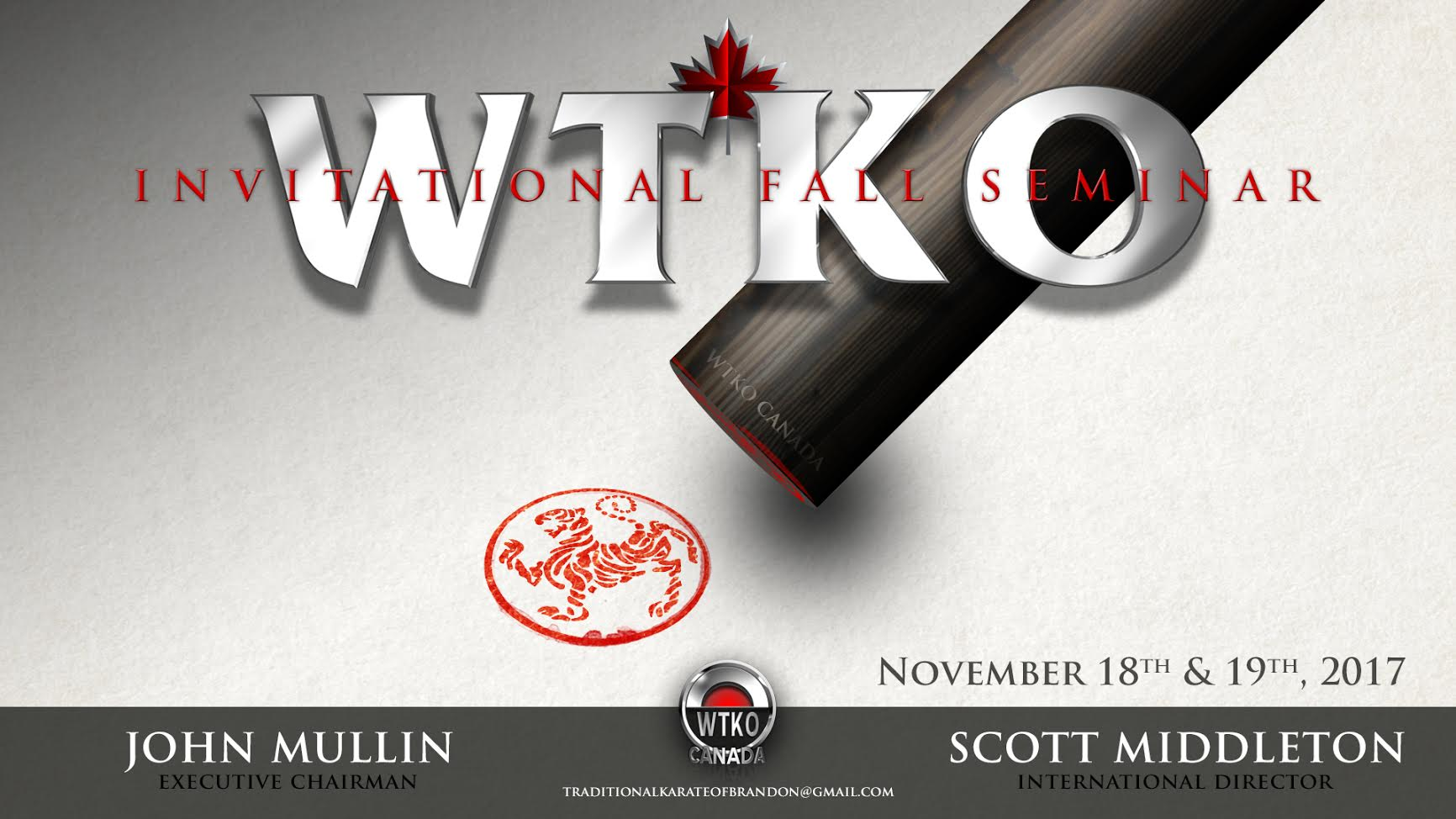 2017 WTKO Canada Invitational Fall Seminar