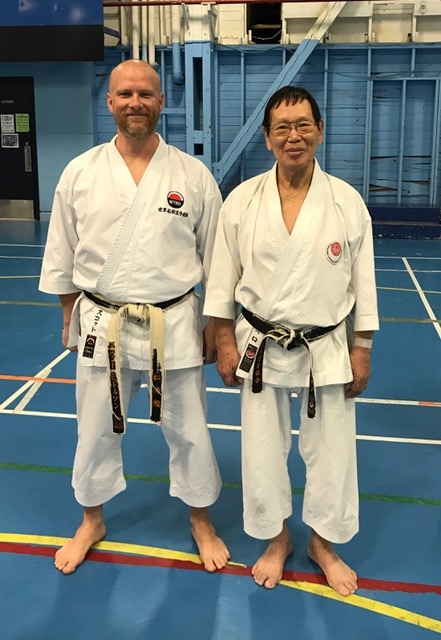 Sensei Yutaka Yaguchi and Sensei Scott Middleton in Winnipeg, Manitoba. October 15th, 2016 marked the final Canadian seminar before a much deserved retirement for Yaguchi Sensei. 2016 marks 44 years of coming to Manitoba for Yaguchi Sensei.